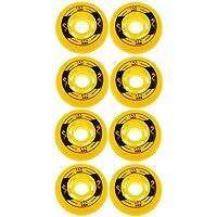 Sharplace 8 Piezas Hockey Aire Libre de Rodillo de Interior Patines Reemplazable - Amarillo, 80 mm