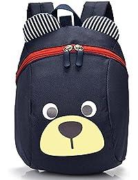 Preisvergleich für Kinderrucksack TEAMEN Anti Verloren Kinder Rucksack Mini Bär Schule Tasche für Baby Jungen Mädchen Kleinkinder...