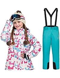 Chaqueta de esquí para niños a prueba de viento Conjunto de ropa de esquí  para niños Invierno Chicas Dibujos animados Espesar Invierno… 921fd9f70dd
