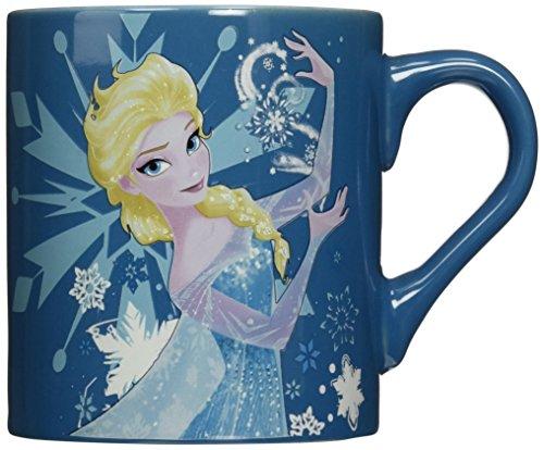 Silver Buffalo DP3232 Disney Elsa Making Snow Ceramic Mug, 14 oz., Blue by Disney (Elsa Becher 14 Oz)