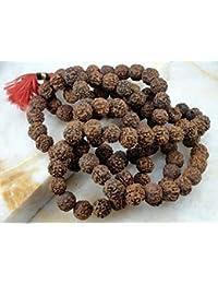 siddhratantm Rudraksha Jap Mala rosario collar de perlas de oración 108