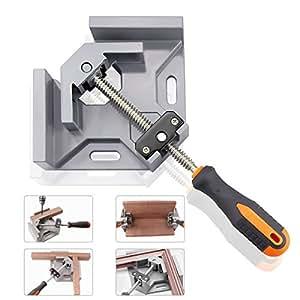 serre joint angle droit gochange 90 corner clamp etau d 39 angle une main en aluminium avec. Black Bedroom Furniture Sets. Home Design Ideas