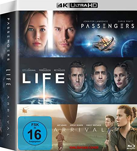 Arrival / Life / Passengers - 4k Ultra HD Blu-ray