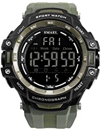 SMAEL 1350 Japan Movement Men's Watch, Digital LED Light Mens Military Watch Top Brand Luxury Digital Wristwatch...