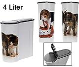 Futterdose für Trockenfutter - 4 Liter - Katzenfutterbox Hundefutterbox Tierfutterdose Hunde