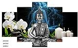 Shisky Quadri Moderni,Pittura a Olio, Astratta Buddha Zen Pittura (5 Unione) Soggiorno-Camera da Letto Decorativa Core (nessun Disegno)