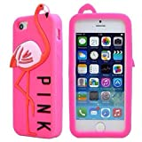 Victorias' Secret Pink Soft Silicone Back Case Cover For Iphone 5 /5S