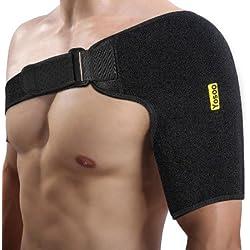 Apoyo de hombro de neopreno Seguridad Protector Deportiva Gimnasio un tamaño ajustable a la izquierda o derecha del hombro
