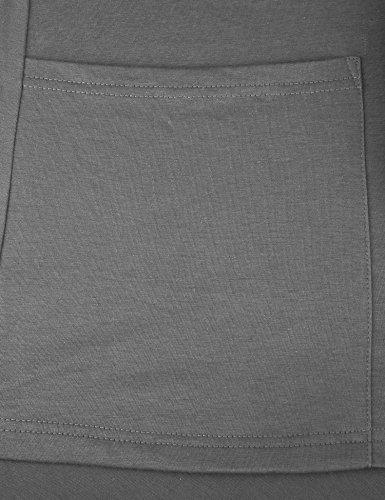 Vessos Femme Gilet Macnhes Longues Cardigan Ouverte Long Casual Avec Poche 36-54 Gris