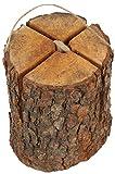 Schwedenfeuer Baumfackel Holz Fichte mit integriertem Anzünder (1 Stück)