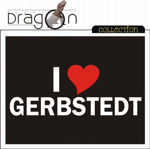 T-Shirt mit Städtenamen - i Love Gerbstedt - Herren - unisex Schwarz