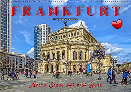 Frankfurt - meine Stadt mit viel Herz (Wandkalender 2020 DIN A2 quer): Frankfurt, pulsierende Metropole und liebenswerte Stadt. (Monatskalender, 14 Seiten ) (CALVENDO Orte)