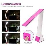 Lámpara LED, ICoCo Lámpara Protección de Los Ojos LED 4 W 200lm Para PC Lámpara de Mesa Para Escritorio 3 Grades Dimmable con Tecla Táctil/Sala/Estudio Regalo
