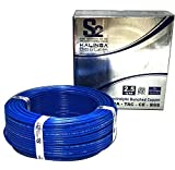 S2 Kalinga Flame Retardant (FR) PVC Insulated Industrial Cable, 2.5 Sq mm, 90 meters roll (Blue)