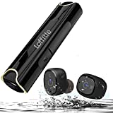 Loffitle Bluetooth Headphones Wireless Bluetooth Earbuds Mini True Wireless Stereo Bluetooth Waterproof Earphone Emergency Charging Station 3 Pairs of Earplugs Built-in Microphone Sports Earbuds, for iPhone/Android Most Smartphone