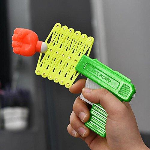 HKhuixin Klassische nostalgische Faust Spielzeug kreative Kunststoff Frühling kleine Waffe Kinder Baby Dekompression kleine Spielzeug (zufällige Farbe)