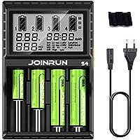 Surophy 18650 Batterieladegerät Akku Ladegerät Universal LCD-Display 4 Schacht Plug Ladestation für Batterien Li-Ionen/IMR/INR/ICR/NI-MH/NI-Cd / LiFePO4