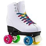 Rio Roller Figure Quad Skates Patin à roulettes de Danse, Blanc - Rose - Bleu -...