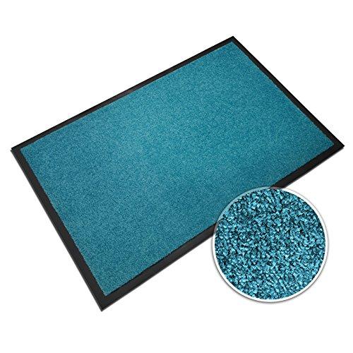 casa pura® Premium Fußmatte in attraktiver Optik   Schmutzfangmatte in 5 Größen   türkis   60x90cm