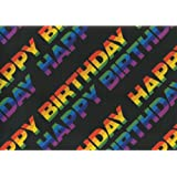 Susy Card 11136116 Wrapping Paper Roll 10 m Happy Birthday Design