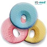 Babykissen von iQ-med® | Baby-Kissen gegen Verformung und Plattkopf | aus viskoelastischem Schaum | Kinder-Kissen, Kopf-Kissen für Säugling, Memory-Schaum (Blau)