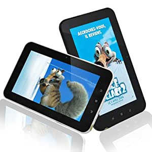 """Tablette Tactile PC Internet WiFi Camera HDMI 7"""" Android 4.0 Neuf ---TBS®M710 Android 4.0 MID 7 """"Cortex A9 1.2GHz tablette PC, 512M, DDR3, 8G , Multimedia Flash Ebook Jeux 3D Camera Wifi HDMI (Blanc)"""