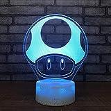 Die besten Verkauf von Tischleuchten - Shuyinju Pilz Kreative Nachtlicht Cartoon Nachttischlampe 3D Selt Bewertungen