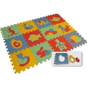 Tier Puzzlematte Spielteppich BIG - Tierfiguren (12 Teile)