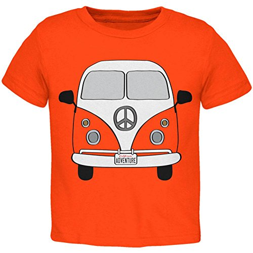 Old Glory Halloween Travel Bus Kostüm Camper Abenteuer Kleinkind T Shirt Orange Toddler Gr. 5/6