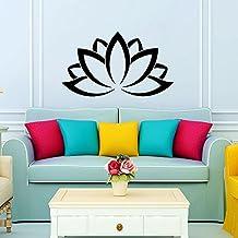 Etiquetas de la pared de la flor de loto adorno indio Mandala geométrico patrón marroquí Yoga Namaste de dormitorio vinilo adhesivo etiqueta de la pared decoración de la pared murales