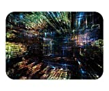 RAINNY Doormat Fractal City Series Backdrop of Three dimensional Fractal Structures and Lights to complement 23.6 W X 15.7 W Inches