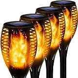 Solar Torch Light with Flickering Flame, Outdoor Solar Flame Effect Lantern, Garden Spotlights Landscape Decoration…