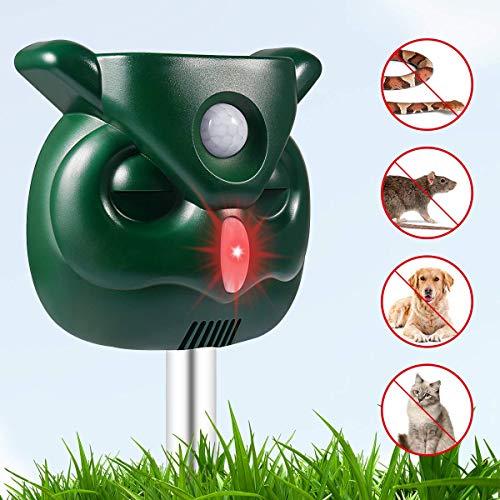 AngLink Repellente Gatti Repellente ad Ultrasuoni Doppio Dissuasore a ultrasuoni per Animali - 2019 Upgraded Version