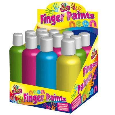 tallon-6-x-neon-bright-finger-paint-bottle-kids-easy-wash