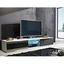 latest beautiful tv schrank hit tv lowboard mit led wei matt schwarz with lowboard with poco tv schrank with tv lowboard poco