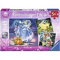 Ravensburger 09339 - Schneewittchen, Aschenputtel, Arielle, 3 x 49 Teile Puzzle