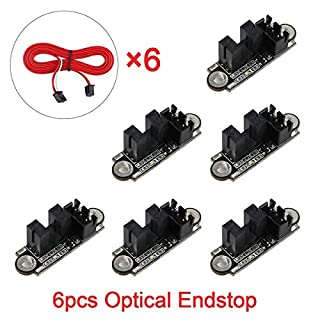 Innovateking-EU 6pcs Optical Endstop with 1M Cable Optical Switch Sensor Photoelectric Light Control Optical Limit Switch Module for 3D Printer