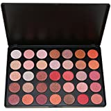 Frola–Pro 35colores impermeable maquillaje sombra de ojos Kit incluye cálido color mate brillo sombra de ojos paleta