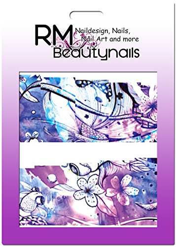 RM Beautynails Stickers nailw Rap Full Cover Stickers pour ongles One Stroke Stickers Nail Art Design Fleurs