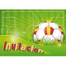 """Edition Colibri 10 Invitaciones en español """"Futbol"""": Juego de 10 Invitaciones al Futbol"""