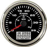 Eling Marine Bateau GPS Compteur de vitesse Odomètre 0–35Noeuds Milometer avec...
