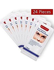 Deep Cleansing Nose Pore Strips 24 Count, Blackhead Entferner Streifen für Nase, Weiß