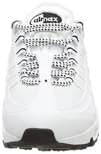 Nike Air Max 95, Herren Laufschuhe Training Blanco / Negro (White / Black-Black)