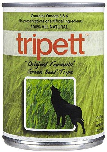 tripett Original Formel grün Rindfleisch Kutteln Hundefutter, 13Oz Dosen, 12Stück