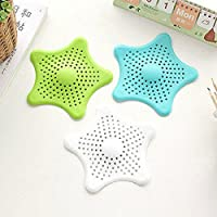 Kitchen Drain Hair Catcher Bath Stopper Sink Basin Strainer Filter Shower Trap - White, 16cm