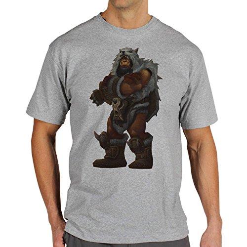 World Of Warcraft Heroes Blizzard Durotan Herren T-Shirt Grau