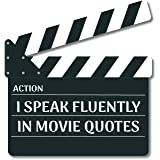 Bhai Please Movie Clapboard Wooden Fridge Magnet TV and Movie Gift and Decoration - I Speak Fluently in Movie Quotes