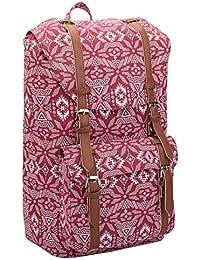 ef8100102ad41 Quenchy London 15 Farben Leinen Rucksack - Mädchen Damen Freizeit  Tagesrucksack Taschen - 25 Medium Schule Handgepäck Größe…