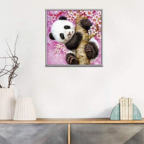 Seilak Diamond Painting 5D DIY Mosaik Strass Stickerei Voller Diamanten Kreative Anzug Größe Wanddekoration Kunsthandwerk Panda, 20X20Cm