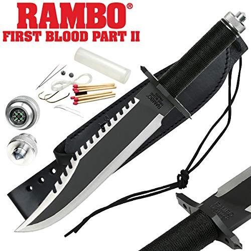 BG Arms Jagdmesser im Stil von Rambo II Überlebensmesser Rambo First Blood Part II Outdoormesser
